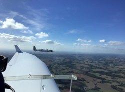 Formationsflug mit der D-KITB