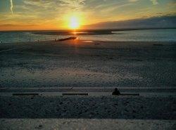 Am Strand in Borkum