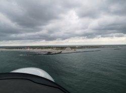 Endanflug auf Helgoland