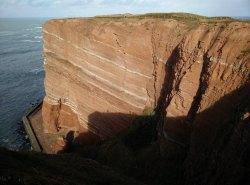 Die roten Felsen von Helgoland