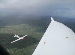Formations-Rückflug aus Helgoland
