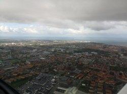 Über Malmö mit Blick auf den Øresund