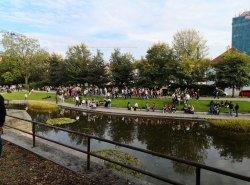 Wegen des Pilsener-Festivals war die Stadt voller Leute