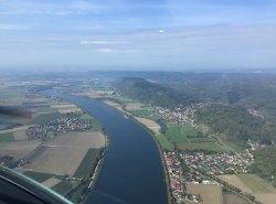 Die Donau kurz vor Regensburg