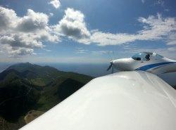 Aquila über kroatischer Insel