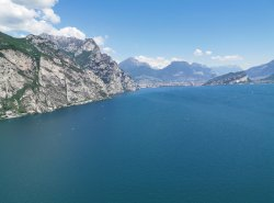 In Italien über dem Gardasee nach Norden