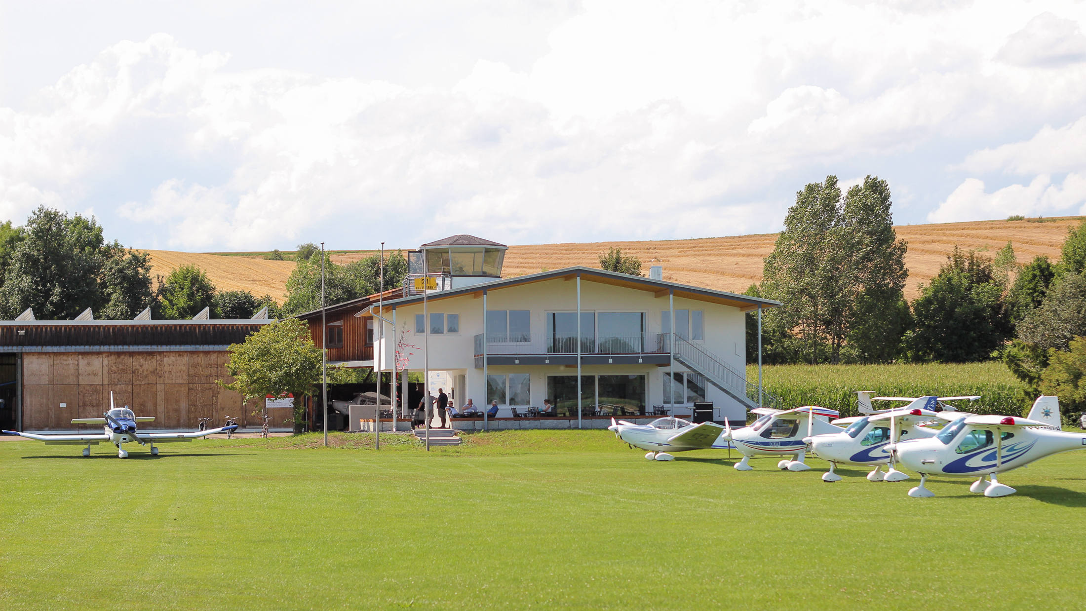 Airfield Erbach / Ulm (EDNE) in South Germany